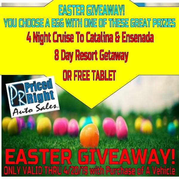 EASTER GIVEAWAY Limited Time Only